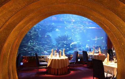 海洋餐厅鱼缸